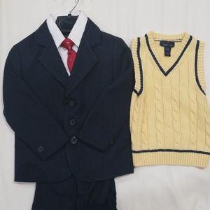 3T VanHeusen 3Pcs Suit/ Class Club Sweater Vest